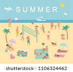 summer set in cute style.... | Shutterstock .eps vector #1106324462