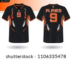 sports jersey template for team ... | Shutterstock .eps vector #1106335478