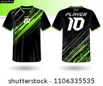 sports jersey template for team ... | Shutterstock .eps vector #1106335535