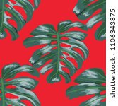 seamless pattern with tropical...   Shutterstock .eps vector #1106343875