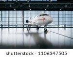 Small photo of Riga, LV - FEB 26, 2018: Bombardier Global Express in white hangar