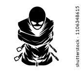 psycho mascot vector logo... | Shutterstock .eps vector #1106348615