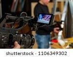 behind the scenes of video... | Shutterstock . vector #1106349302