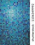mosaic wall background | Shutterstock . vector #1106349992