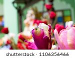 pink flowers made of fabric.... | Shutterstock . vector #1106356466