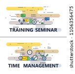 training seminar and time... | Shutterstock .eps vector #1106356475