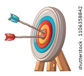 double shot the target icon.... | Shutterstock .eps vector #1106358842