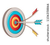 head shot target icon. cartoon... | Shutterstock .eps vector #1106358866