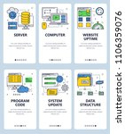 vector set of mobile app... | Shutterstock .eps vector #1106359076