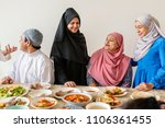 muslim family having a ramadan... | Shutterstock . vector #1106361455
