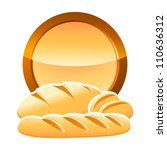 bakery sign with bread ... | Shutterstock .eps vector #110636312