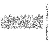 people sitting on stadium to... | Shutterstock .eps vector #1106371742