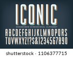 a tall condensed iconic font... | Shutterstock .eps vector #1106377715