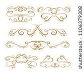 set of elegant flourishes for...   Shutterstock .eps vector #1106379308