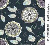 abstract flower seamless... | Shutterstock .eps vector #1106381372