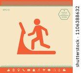 man on treadmill icon | Shutterstock .eps vector #1106388632