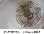 old metal fan electric on... | Shutterstock . vector #1106391065