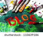 colorful blog | Shutterstock . vector #110639186