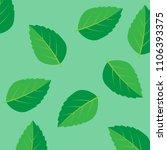 fresh mint leaf. mint leaves... | Shutterstock .eps vector #1106393375