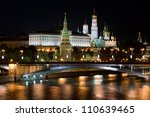 beautiful and famous night view ... | Shutterstock . vector #110639465