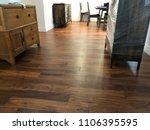 engineered hardwood flooring  | Shutterstock . vector #1106395595