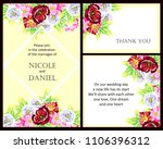 invitation with floral... | Shutterstock . vector #1106396312