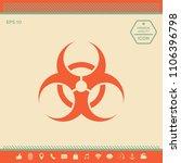 biological hazard sign | Shutterstock .eps vector #1106396798