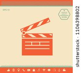 clapperboard icon symbol | Shutterstock .eps vector #1106398802