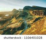 sunny morning in quiraing...   Shutterstock . vector #1106401028
