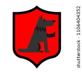 wolf shield heraldic symbol.... | Shutterstock .eps vector #1106404352