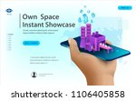 concept of big data processing  ... | Shutterstock .eps vector #1106405858