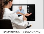 doctor and senior woman taking...   Shutterstock . vector #1106407742