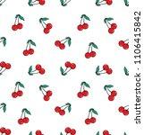 cherry fresh fruit seamless... | Shutterstock .eps vector #1106415842