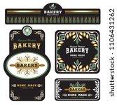 bakery branding template and...   Shutterstock .eps vector #1106431262