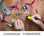 assembly of a quadrocopter... | Shutterstock . vector #1106434565