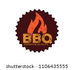 bbq barbecue vector icon emblem ...   Shutterstock .eps vector #1106435555