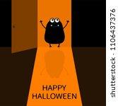 happy halloween. screaming...   Shutterstock .eps vector #1106437376