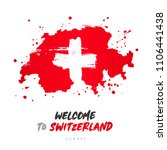 welcome to switzerland. europe. ... | Shutterstock .eps vector #1106441438