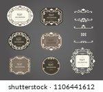 vintage vector set. floral... | Shutterstock .eps vector #1106441612