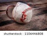well loved baseball splitting... | Shutterstock . vector #1106446808