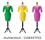 dresses on stands for dummies | Shutterstock .eps vector #1106447522