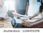 business people meeting design... | Shutterstock . vector #1106455298