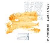orange brush stroke and texture.... | Shutterstock .eps vector #1106457698