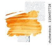 orange brush stroke and texture.... | Shutterstock .eps vector #1106457728