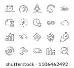 simple set of vector line icon  ... | Shutterstock .eps vector #1106462492