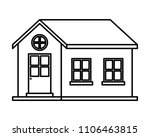exterior house isolated icon | Shutterstock .eps vector #1106463815