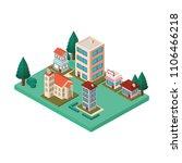 city scape isometric scene   Shutterstock .eps vector #1106466218