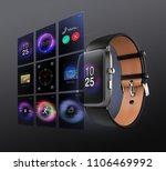 Smart Watch On Dark Gray...