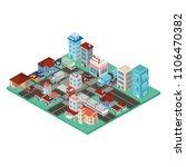 city scape isometric scene | Shutterstock .eps vector #1106470382