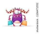 cartoon monster characters.... | Shutterstock .eps vector #1106471552